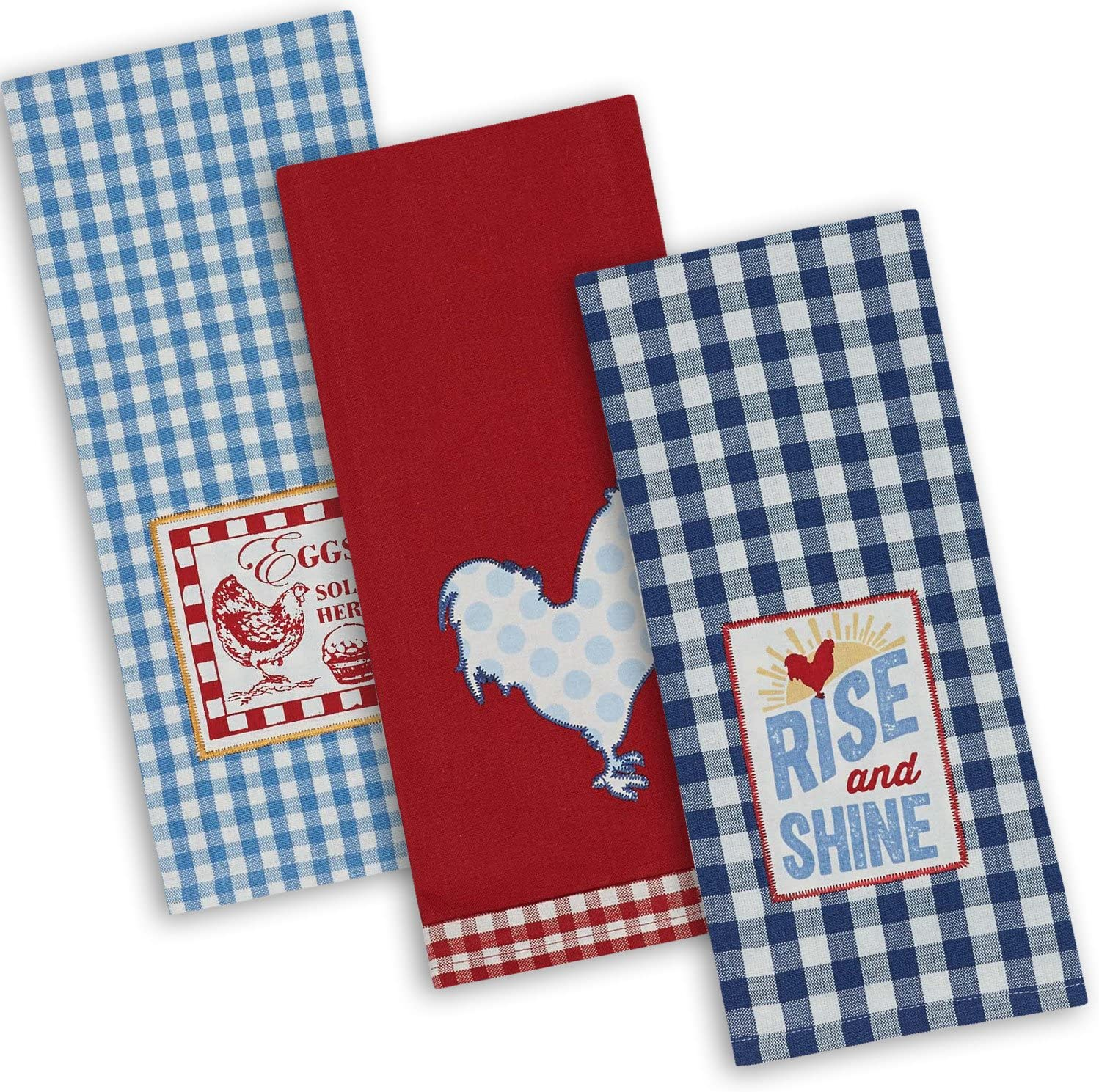 Embroidered Cotton Terry Kitchen Towel Set of Two The Bantys
