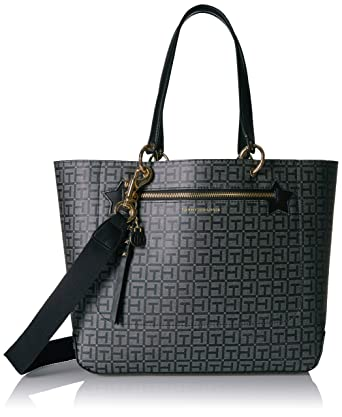ea5b3d79297d Amazon.com: Tommy Hilfiger Tote Bag for Women Item, Black Tonal: Clothing