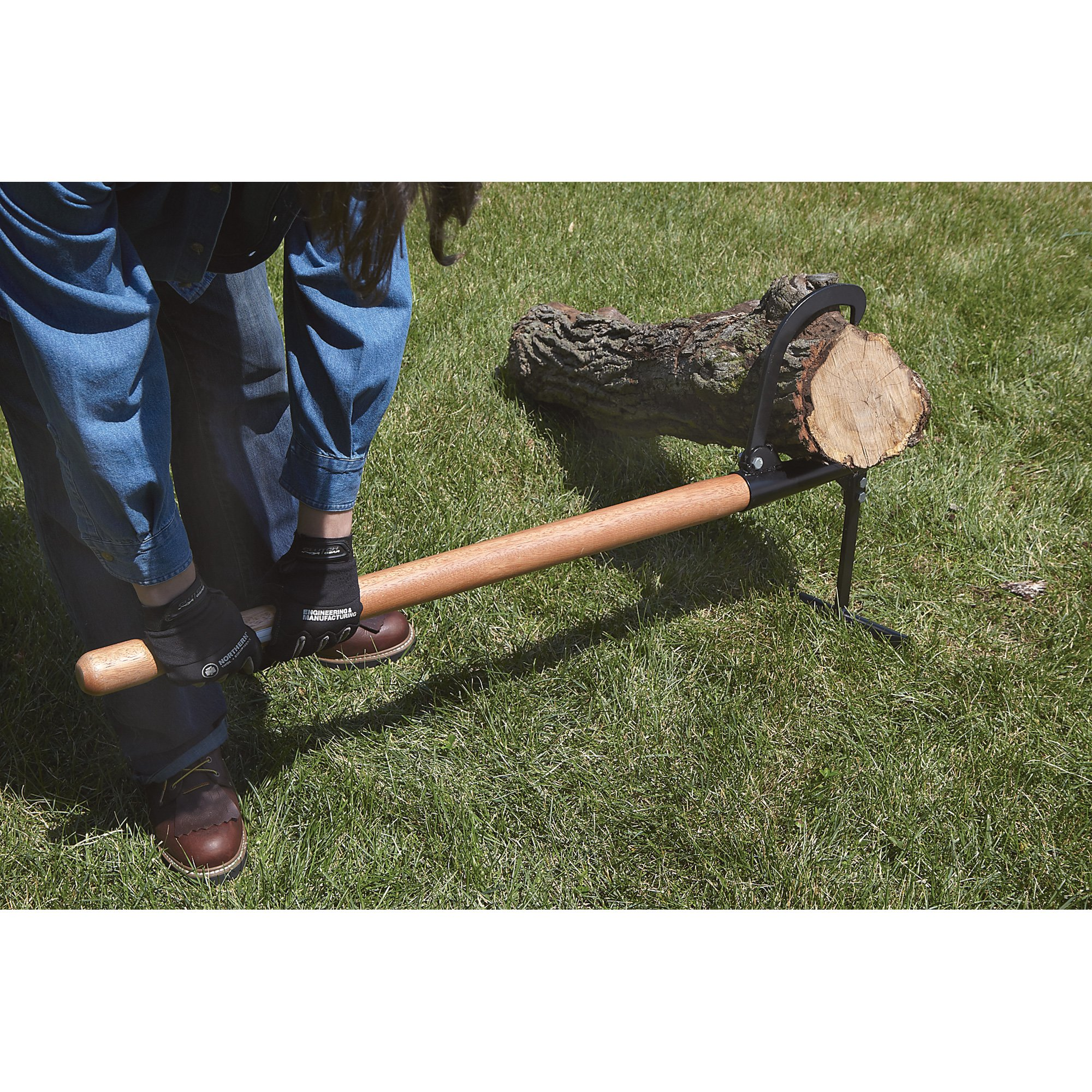 Ironton Wooden Handle Timberjack – 48in.L Log Lifter Jack