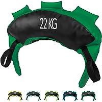 POWRX Bulgarian Bag 5kg - 22kg gemaakt van synthetisch leder I 3 handvaten, 2 lussen & 2 grijpvaste uiteinden I Sand…