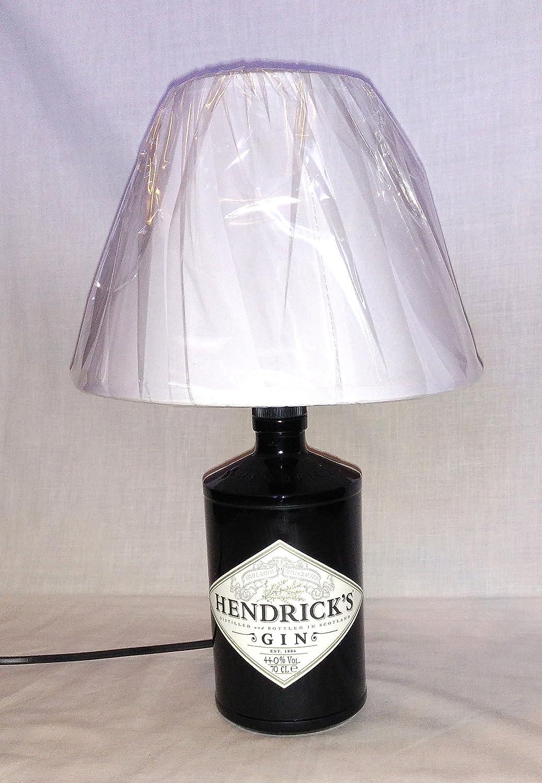 Lampada da tavolo artigianale da Bottiglia Gin Hendrick's idea regalo abat jour abatjour riciclo creativo riuso