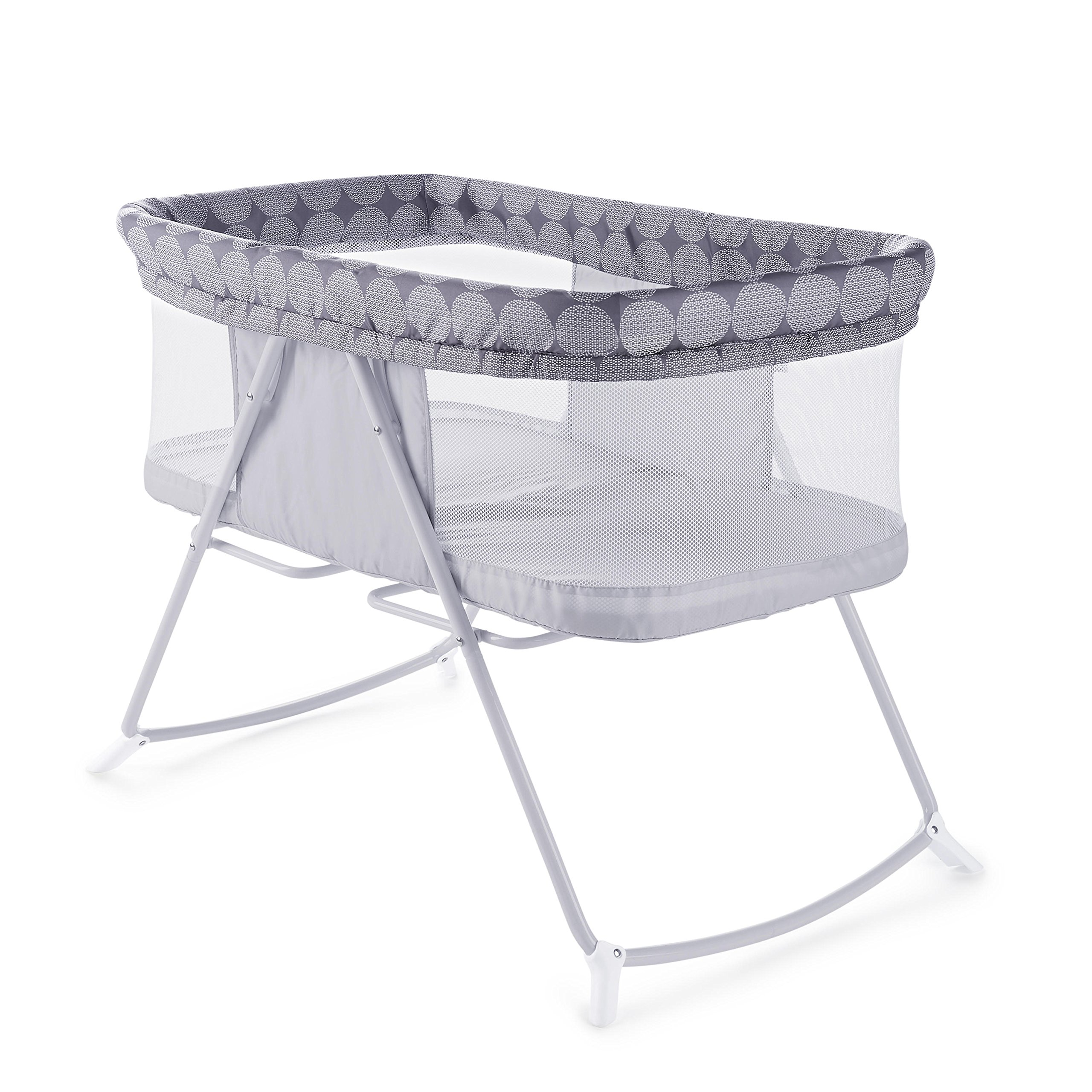 Ingenuity Foldaway Rocking Bassinet Classic - Crosby - Portable Folding Rocking Bassinet