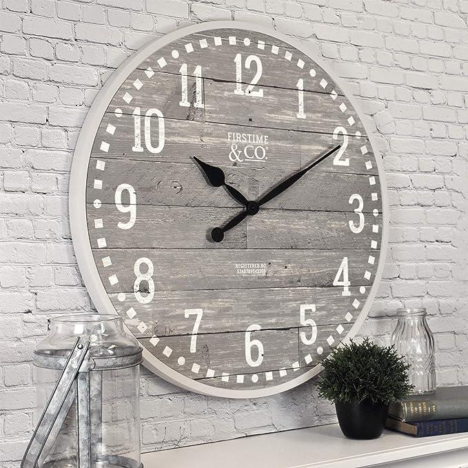 Firstime Co 25708 20 Arlo Gray Wall Clock Light Amazon Ca Home Kitchen