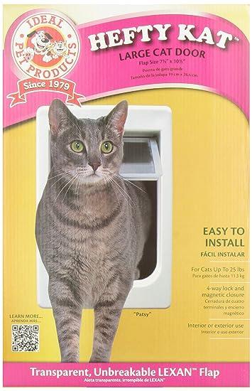 Ideal Pet Products Chubby Kat Cat Door With 4 Way Lock, 7.5u0026quot; X  10.5u0026quot