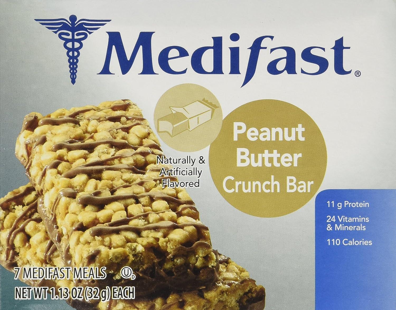 Amazon.com: Medifast Peanut Butter Crunch Bars (1 Box/7 Servings ...