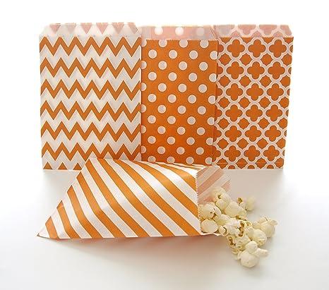 Amazon.com: Naranja – Goody bolsas (100 unidades) para ...
