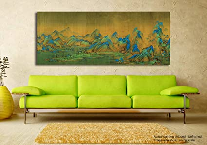 Tamatina Canvas Painting   Blue Top Mountains   Home Décor   Paintings For  Living Room