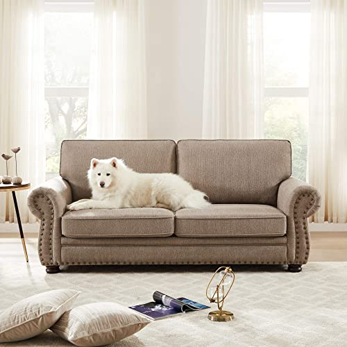 Habitana Stain Fabric Three Seat Sofa