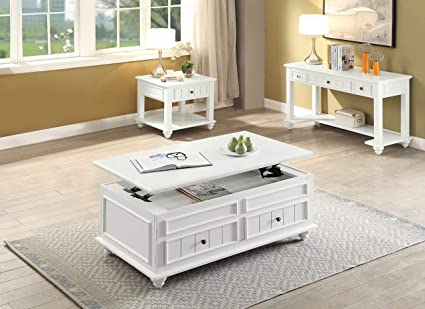 White Lift Up Coffee Table.Amazon Com Acme Furniture 83325 Natesa Coffee Table With Lift Top