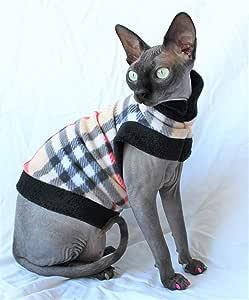 """Sphynx Designer Fleece Knit Cat Shirt/ Sweater """"Purberry"""""""
