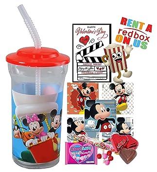 Disney Mickey Mouse día de San Valentín Redbox película noche Fun Sip vaso de recuerdo de