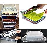 takestop Juego 10piezas Organizador ezstax para vestidos armario oficina viaje camiseta hojas estantes secciones compartimentos almacenaje