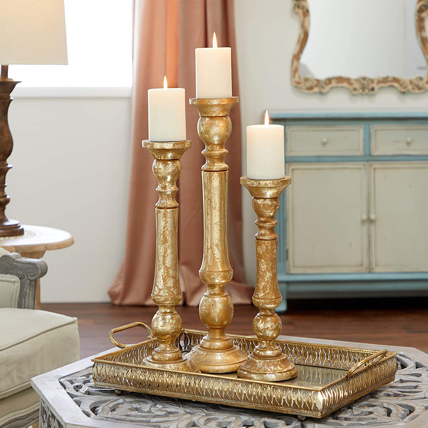 ► Candlesticks Candle Holder Candle Villeroy /& Boch Gold Large 23cm Gift NEW