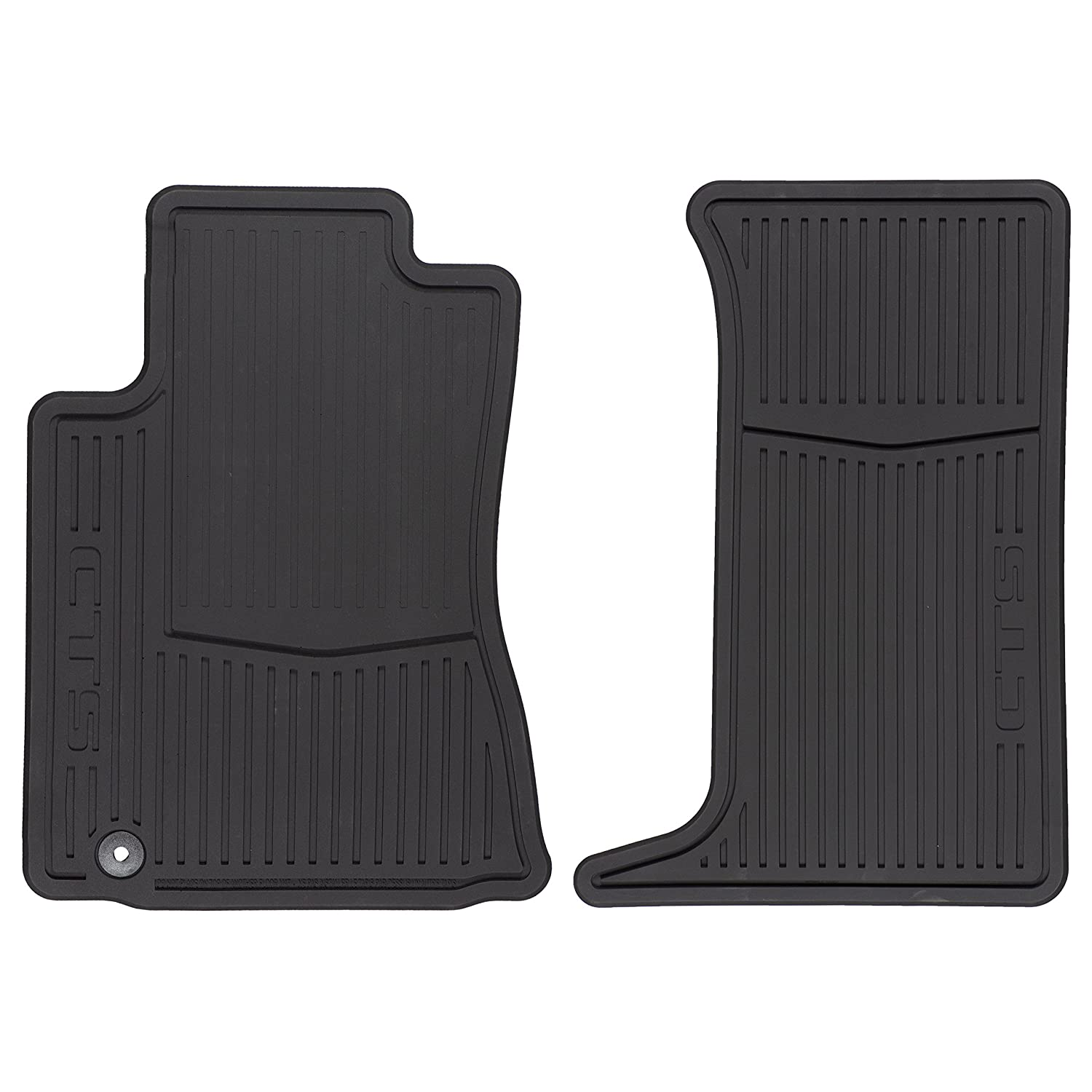 GM # 22784766 Floor Mats - Front Premium All Weather - Ebony with CTS Logo GMC