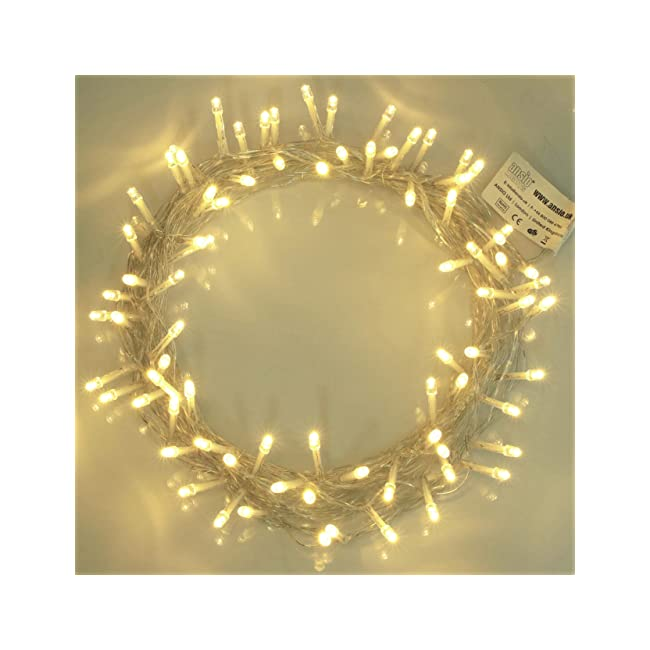 Indoor Fairy Lights 100 LED Warm White String ...