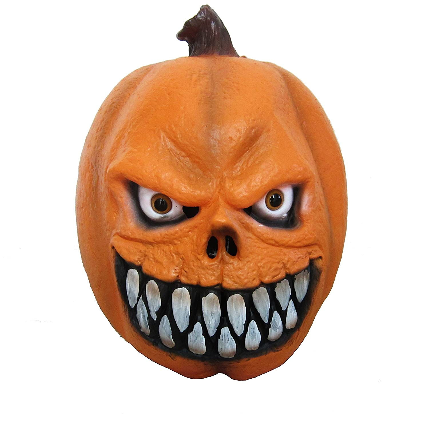 Lubber Halloween Party Costume Pumpkin Latex Head Mask Creepy Decorations