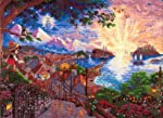 MCG Textiles Disney Dreams Collection by Thomas Kinkade Pinocchio Wishes Upon a Star Counted Cross Stitch Kit