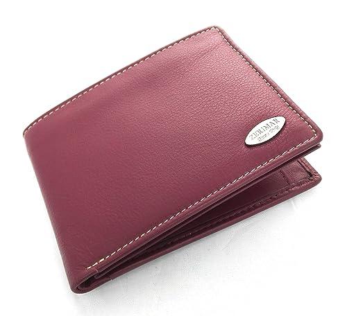 Zerimar Cartera billetera Americana Cartera hombre | carteras de piel hombre| carteras de hombre |carteras con tarjetero Medidas: 12 x 9 cms: Amazon.es: ...