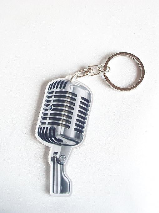 Llavero de acrílico forma micrófono: Amazon.es: Instrumentos ...