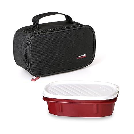 TATAY 1168100 - Urban Food Mini Negro - Pequeña Bolsa térmica Porta Alimentos con un taper hermético incluido, Color Negro, 21.5 x 9 x 12 cm