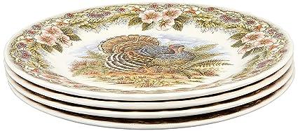 A Set of 4 Queenu0027s Myott by Churchill Thanksgiving Turkey Dinner Plates  sc 1 st  Amazon.com & Amazon.com | A Set of 4 Queenu0027s Myott by Churchill Thanksgiving ...