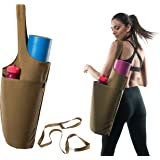 ComfyCarry Yoga Mat Bag, 14oz Cotton, Large & Fitting All Mat Sizes, Sling Tote Mat Carrier, Easy & Fast Packing, Yoga Mat Shoulder Strap as Gift