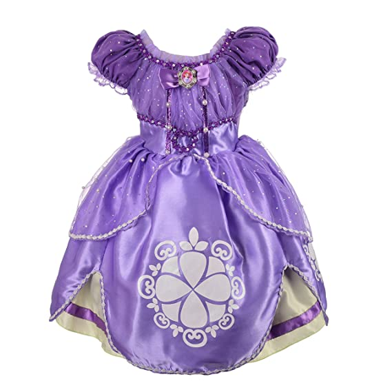 Dressy Daisy Las Niñas Princesa Sofia Dress Up Costume