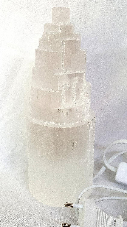 Lampada Selenite circa h 38 cm Marocco