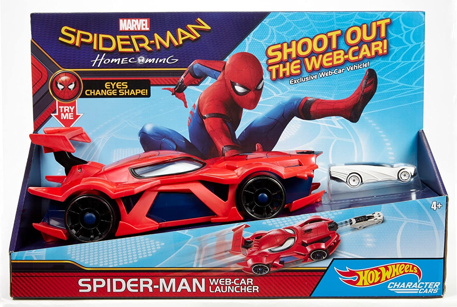 Hot Wheels Marvel Iron Man Vehicle and Launcher IW2 Toy Mattel GBW09