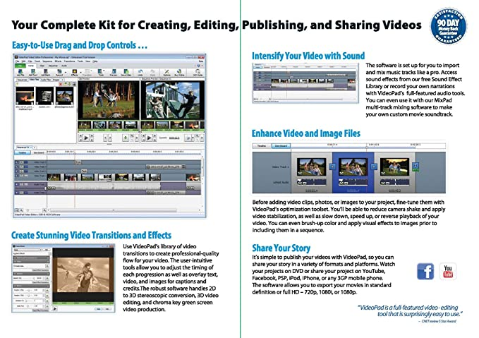 NCH Software Video Editing with Videopad For Dummies: Amazon