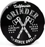 LARGE California Grinder 2.5 Inch Anodized Aluminum 4 Piece Herb Weed Spice & Tobacco Grinder with ZERO WASTE Pollen Kief Catcher