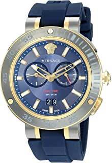 Versace Men s V-Extreme PRO Stainless Steel Swiss-Quartz Watch with  Silicone Strap, d7ed92efb66