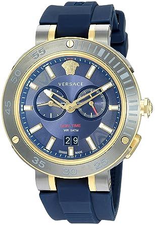 23272c21aa13 Versace VCN010017 Montre Bracelet Homme Silicone Bleu  Amazon.fr ...