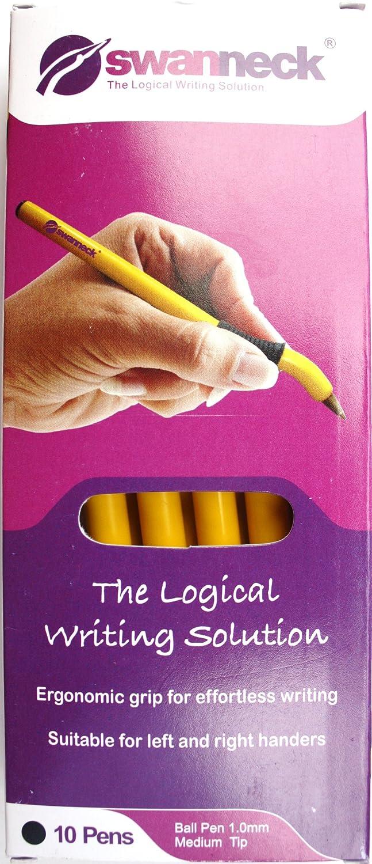 Swanneck Left Handed Yellow Barrel Black ink pen (10 Pen box) Swanneck yellow 02