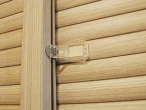 Sliding Door Lock, Baby Proof Closets, Window Locks for Children, Clear, 4 Pack