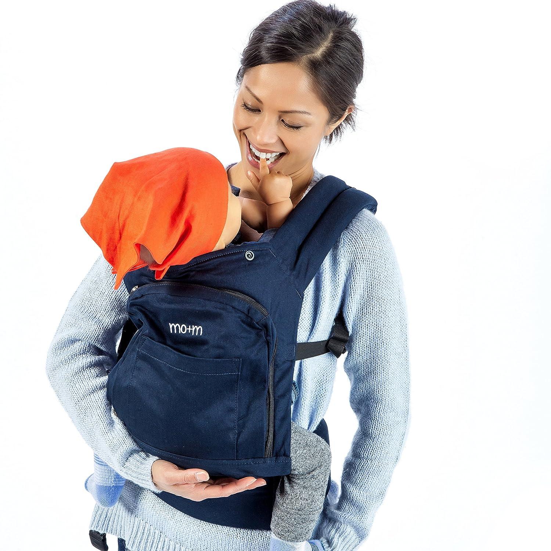 Amazon Mo m Ergonomic Baby Carrier Navy Blue Soft
