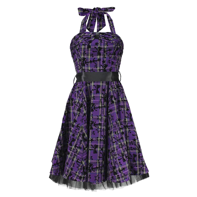 H&R London Women's Dress Purple Purple XL