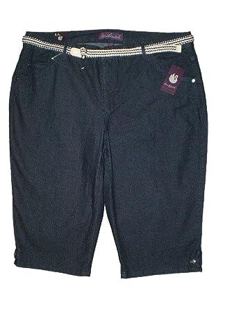 9e4d62d0aa774 Gloria Vanderbilt Belted Lexi Cropped Capris Denim Jeans Plus Size New  52  (24W)