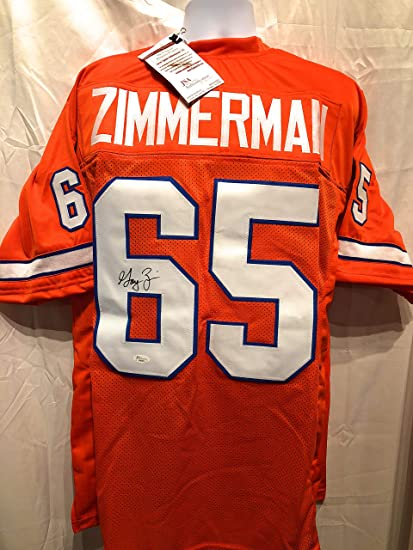 huge discount 4ccab 9b399 Gary Zimmerman Denver Broncos Signed Autograph Custom Jersey ...