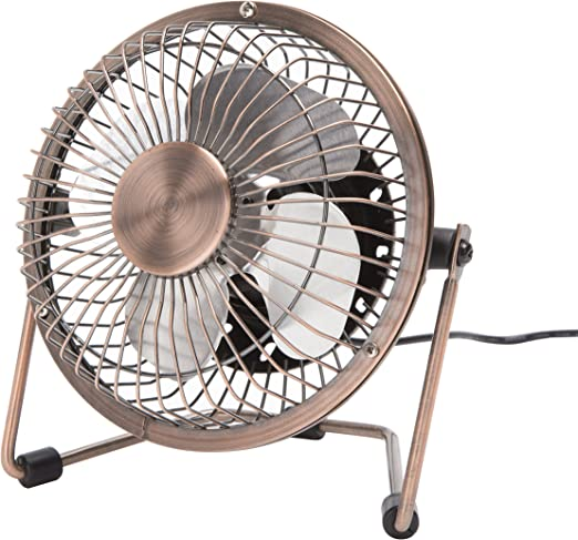 USB Desk Fan Metal Design for Home Office Personal Cooling DC 5V Energy Saving Small and Quiet