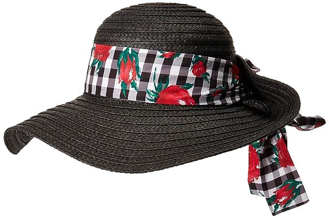 c85b8778d5371 Betsey Johnson Women s Gingham Floppy Hat