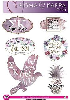 Sigma Kappa - Sticker Sheet - Lifestyle Theme