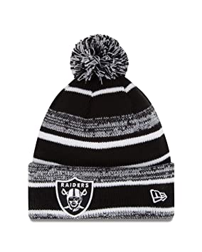 9da2a3e3218 Image Unavailable. Image not available for. Colour  Oakland Raiders New Era  2014 NFL Sideline On Field Sport Knit Hat - Black White