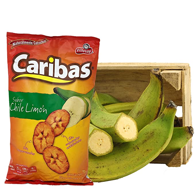 Amazon.com : Caribas Plantain Chips: Fried Plantain Chips With Chili and Lime| Source Of Fiber | No Preservatives | 135 g (4.7 ounces) 24 pack : Grocery ...