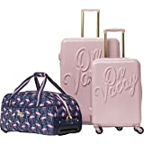 Macbeth On Vacay 3 Piece Nested Luggage Set, Pink