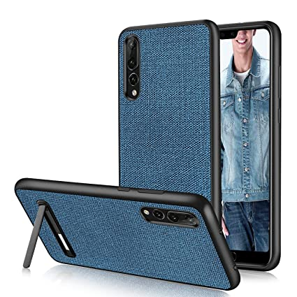 new concept 6551c 69aad Case for Huawei P20 Pro,DUEDUE Huawei P20 Pro Case Shockproof Rugged Slim  Hybrid Hard PC Cover Durable Kickstand with Linen Cloth Fabric Design  Canvas ...