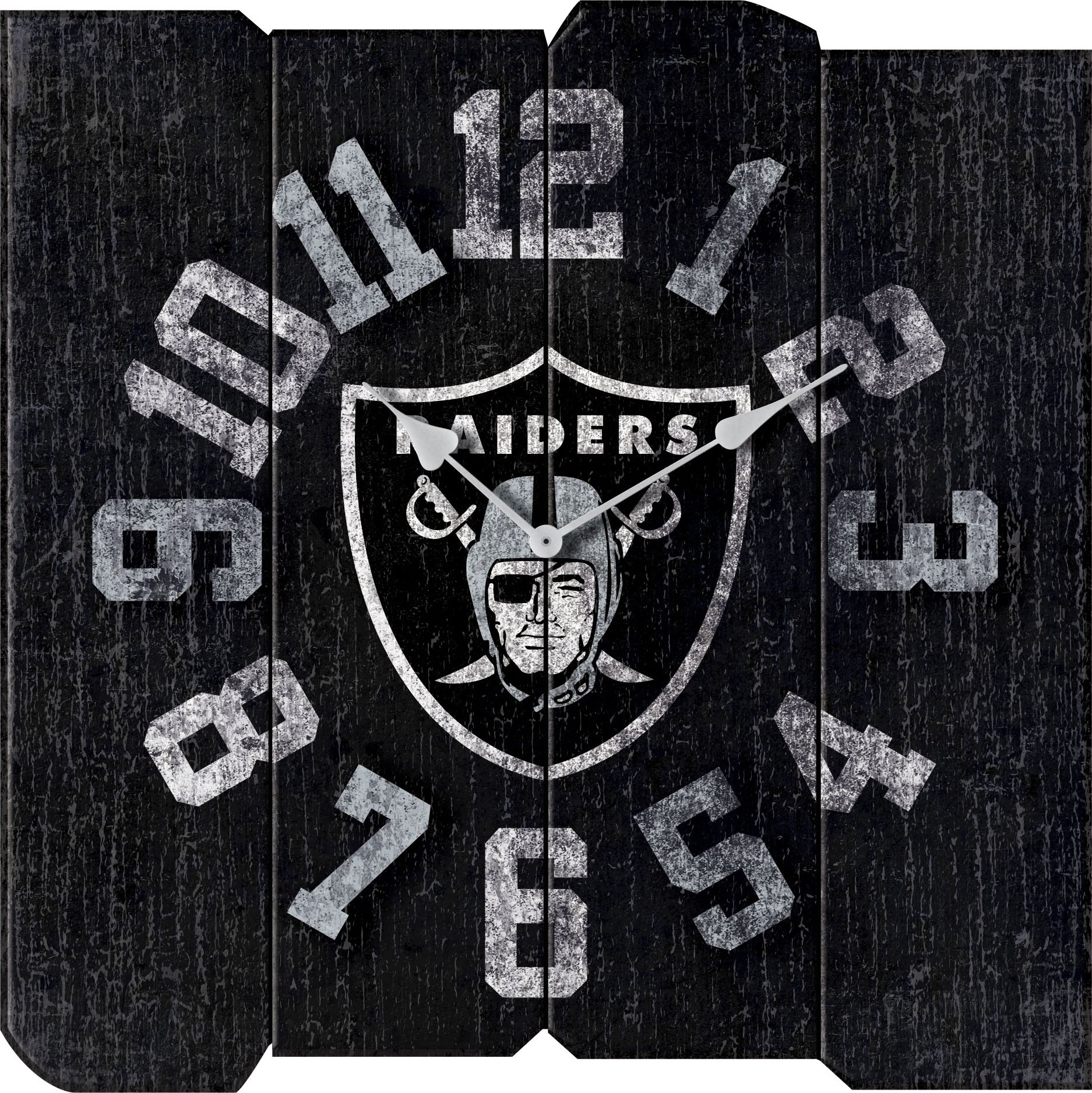 Imperial Officially Licensed NFL Merchandise: Vintage Square Clock, Oakland Raiders by Imperial