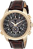 Citizen Eco-Drive Brycen Stainless Steel Solar Powered Watch with Brown Dial Display BL5403-03X