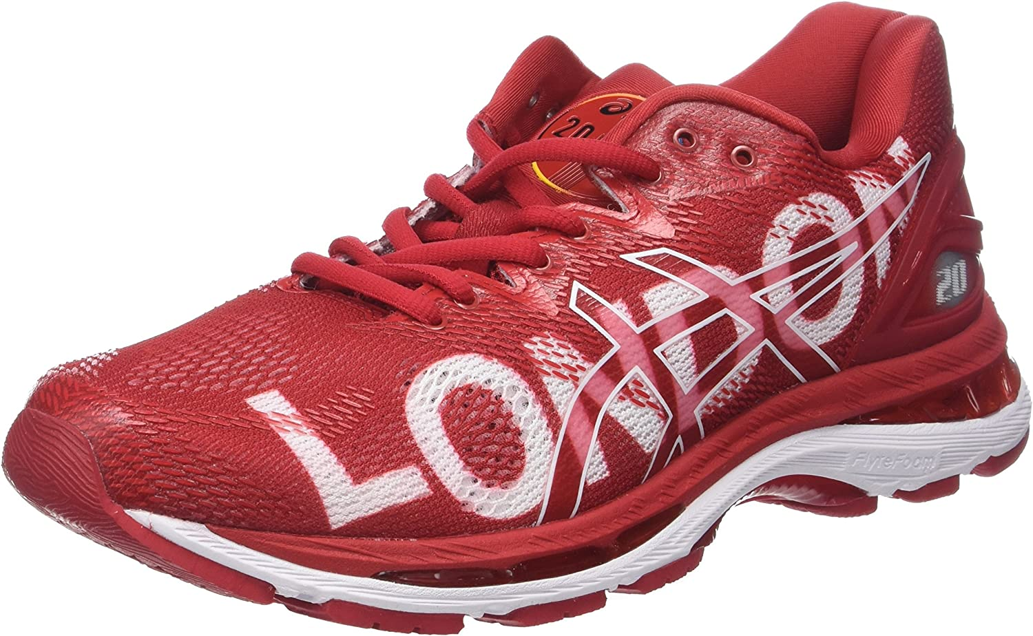 Asics Gel-Nimbus 20 Marathon, Zapatillas de Running para Hombre, Rojo London 2018 Red 2323, 49 EU: Amazon.es: Zapatos y complementos