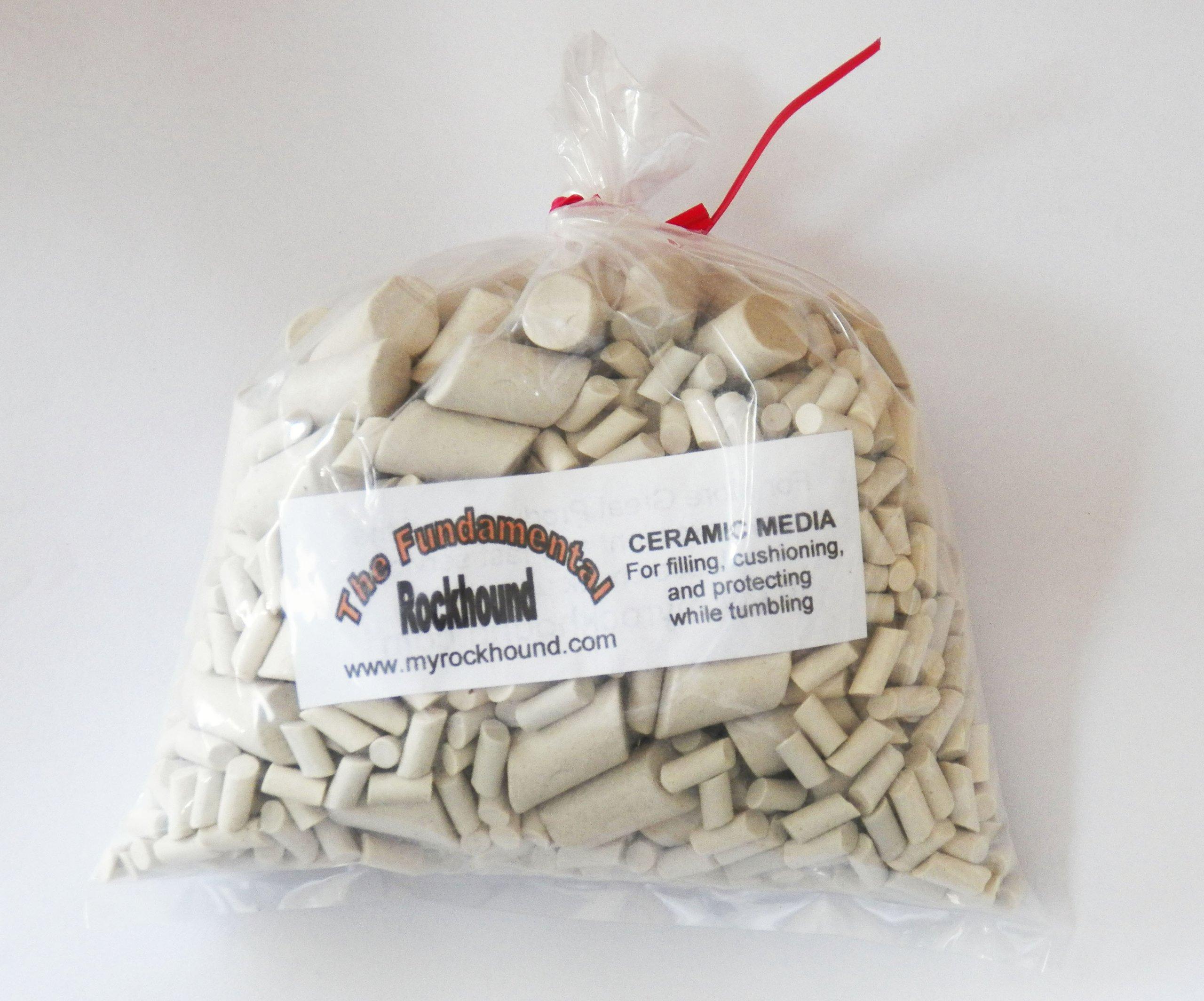 Fundamental Rockhound Products: 1 lb Mixed Ceramic Tumbling Media for Rock Filler, Cushioning, Protecting